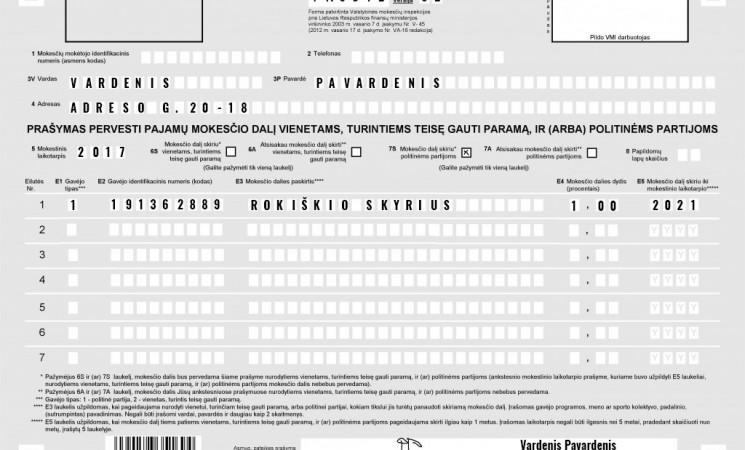 Kviečiame teikti 1% paramą LSDP Rokiškio skyriui